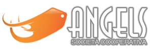 Logo Angels Societa cooperativa Bianco