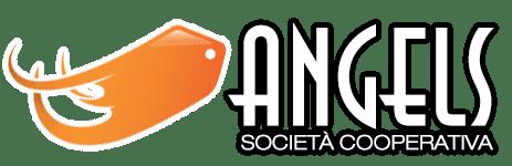 Logo Angels Societa cooperativa Bianco